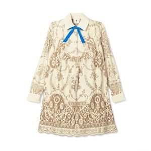 Anna Sui For Target Lace Long Sleeve Shift Dress